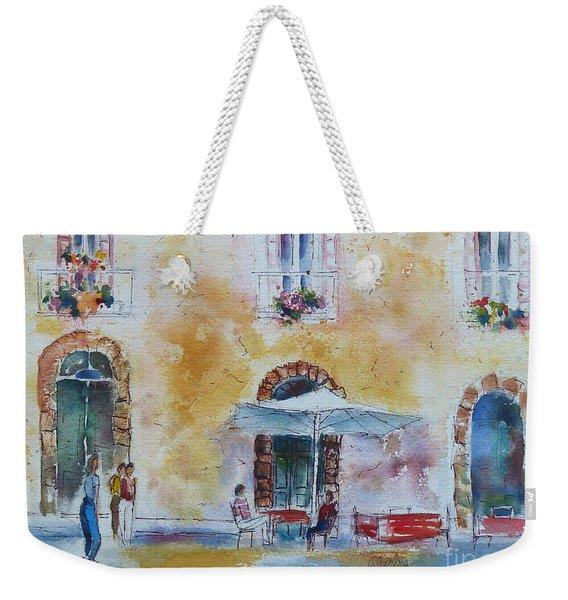 Italian Piazza Weekender Tote Bag