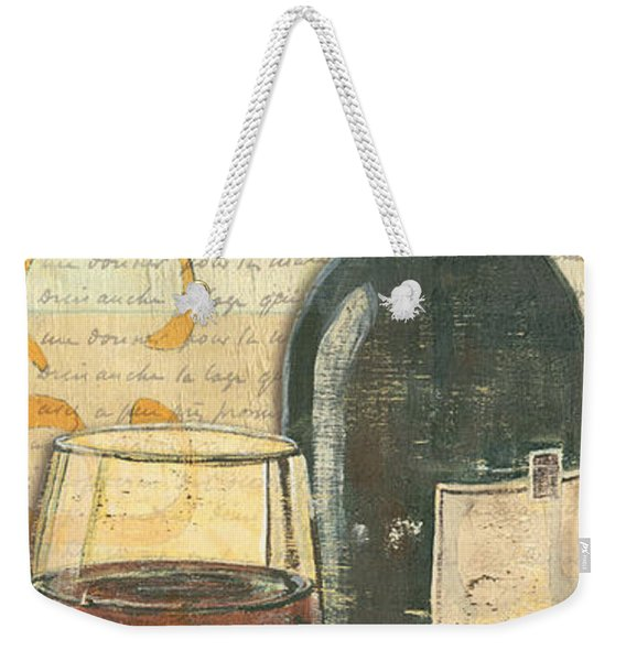 Italian Wine And Grapes Weekender Tote Bag