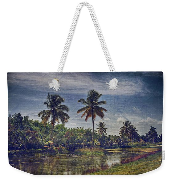 It's Hanging In The Air Weekender Tote Bag
