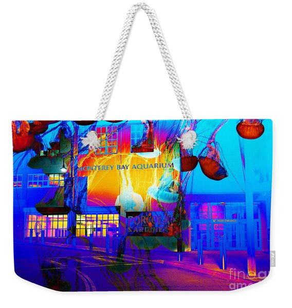 Its Raining Jelly Fish At The Monterey Bay Aquarium 5d25177 Weekender Tote Bag