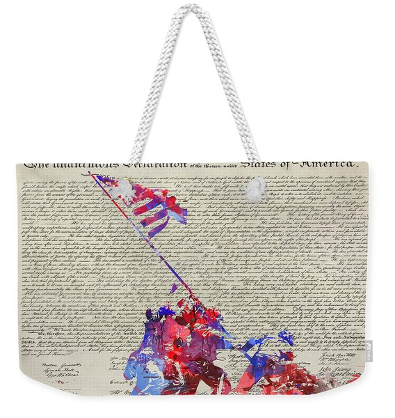 Iwo Jima Declaration Of Freedom Weekender Tote Bag