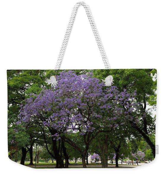 Jacaranda In The Park Weekender Tote Bag