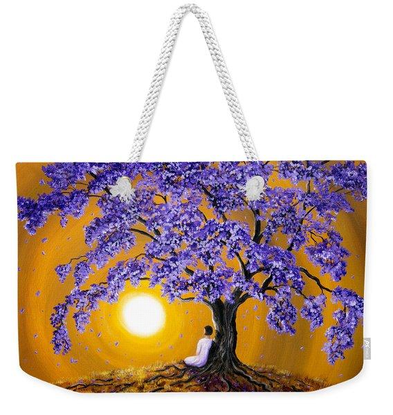 Jacaranda Sunset Meditation Weekender Tote Bag