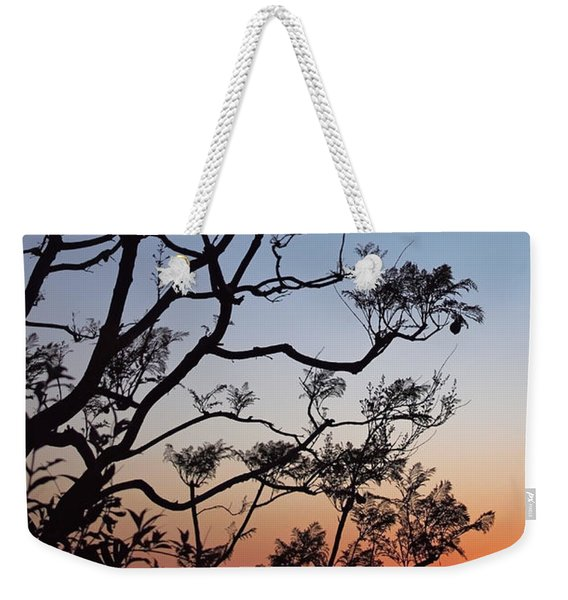 Jacaranda Sunset Weekender Tote Bag