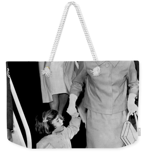Jacqueline Kennedy With Child Weekender Tote Bag