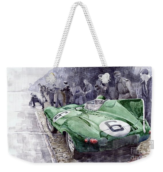 Jaguar D-type  1955 Le Mans  Weekender Tote Bag