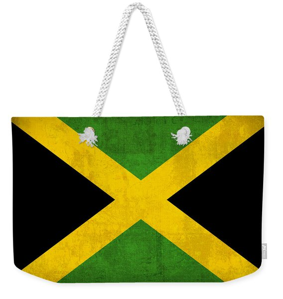 Jamaica Flag Vintage Distressed Finish Weekender Tote Bag