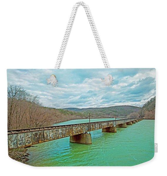 James River Railroad Crossing Weekender Tote Bag