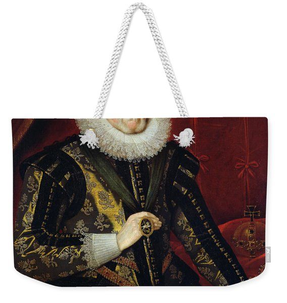 James Vi Of Scotland And I Of England And Ireland  1566-1625 Oil On Canvas Weekender Tote Bag