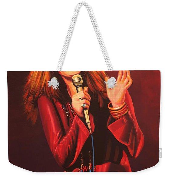 Janis Joplin Painting Weekender Tote Bag
