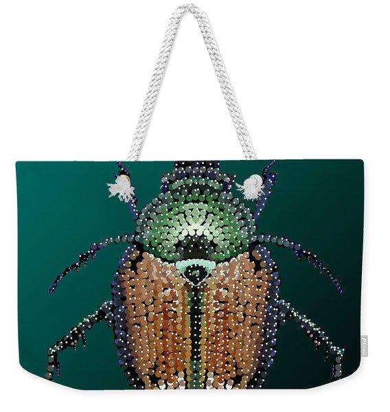 Japanese Beetle Bedazzled II Weekender Tote Bag