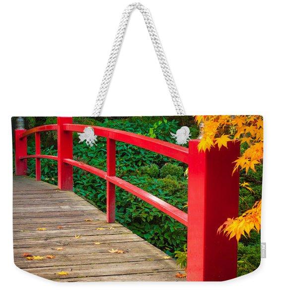 Japanese Bridge Weekender Tote Bag
