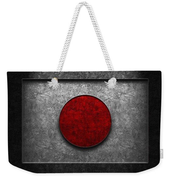 Japanese Flag Stone Texture Weekender Tote Bag