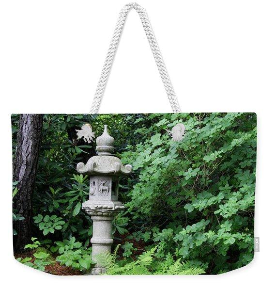 Japanese Garden Lantern Weekender Tote Bag