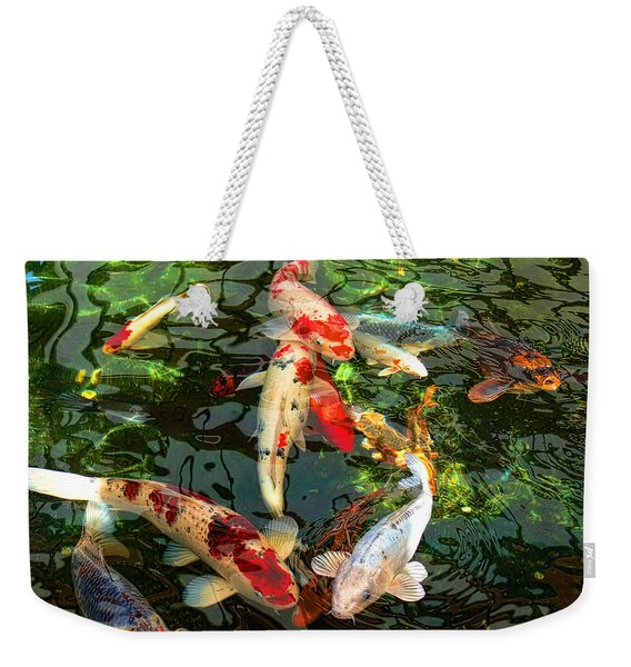 Japanese Koi Fish Pond Weekender Tote Bag