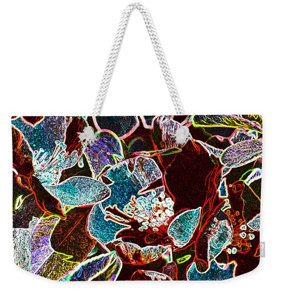 Japanese Quince In Abstract Weekender Tote Bag