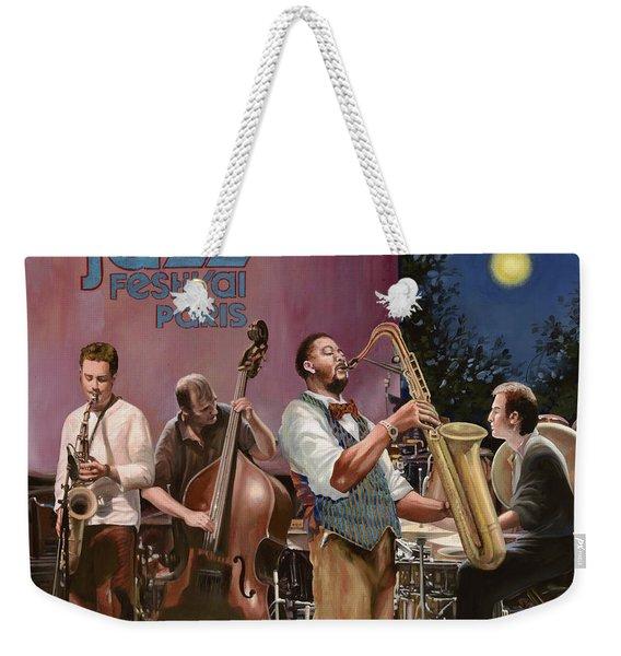 jazz festival in Paris Weekender Tote Bag