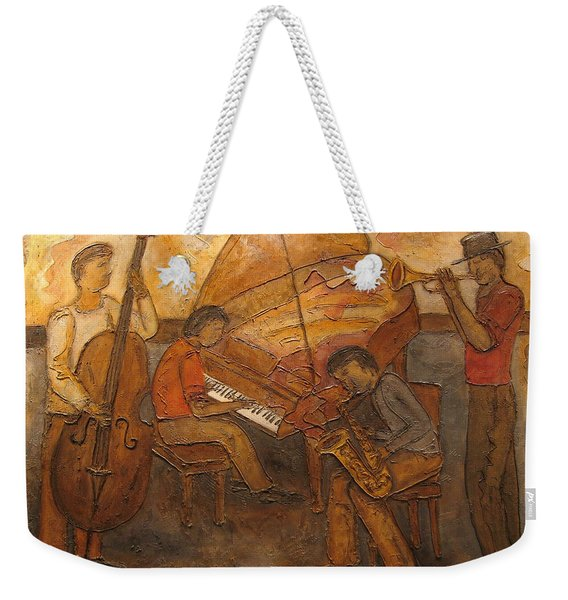 Jazz Quartet Weekender Tote Bag