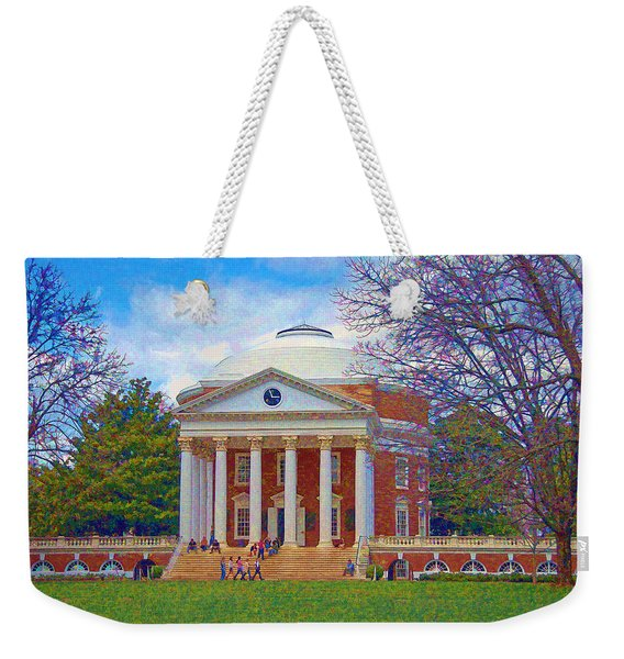 Jefferson's Rotunda At Uva Weekender Tote Bag