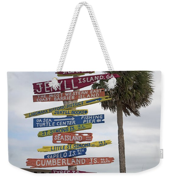Jekyll Island Where To Go Weekender Tote Bag