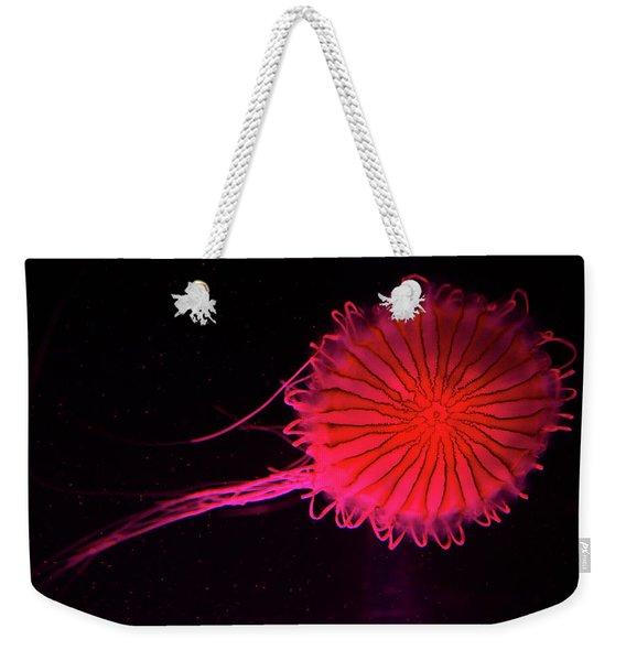Jellyfish In Aquarium Of Quebec Weekender Tote Bag