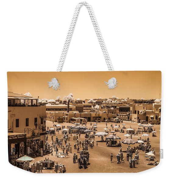 Jemaa El Fna Market In Marrakech At Noon Weekender Tote Bag