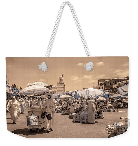 Jemaa El Fna Market In Marrakech Weekender Tote Bag