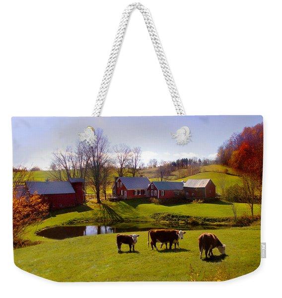 Jenne Farm In Autumn Weekender Tote Bag