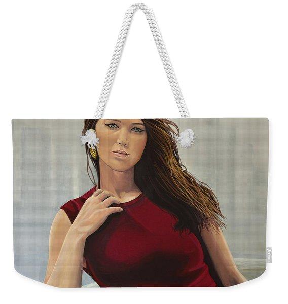 Jennifer Lawrence Painting Weekender Tote Bag