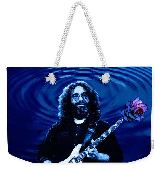 Blue Ripple Rose Weekender Tote Bag