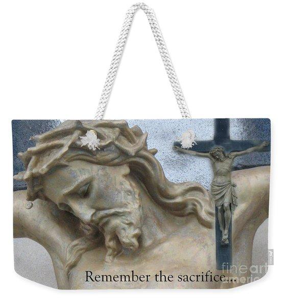 Jesus - Christian Art - Religious Statue Of Jesus Weekender Tote Bag