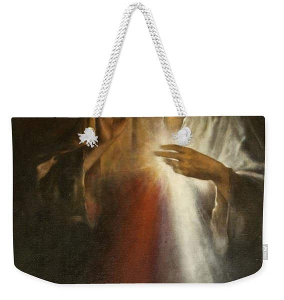 Jesus Of Divine Mercy Weekender Tote Bag