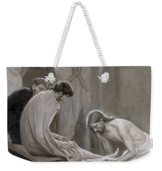 Jesus Washing The Feet Of His Disciples Weekender Tote Bag