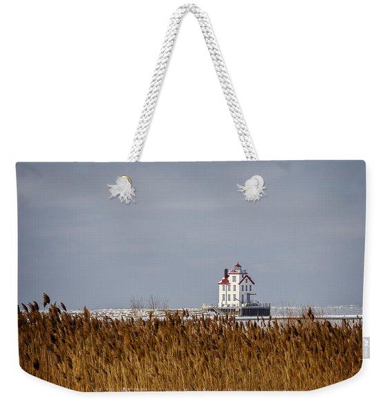 jewel of the Port Lorain Lighthouse Weekender Tote Bag