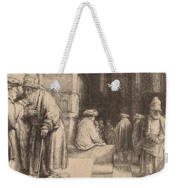 Jews In The Synagogue Weekender Tote Bag