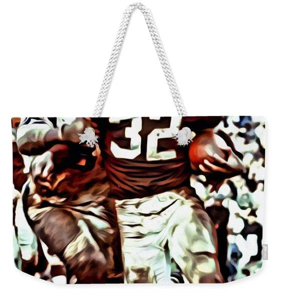 Jim Brown Weekender Tote Bag