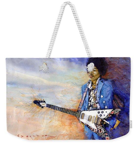 Jimi Hendrix 10 Weekender Tote Bag