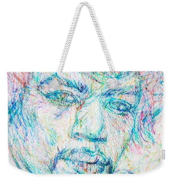 Jimi Hendrix - Colored Pens Portrait Weekender Tote Bag