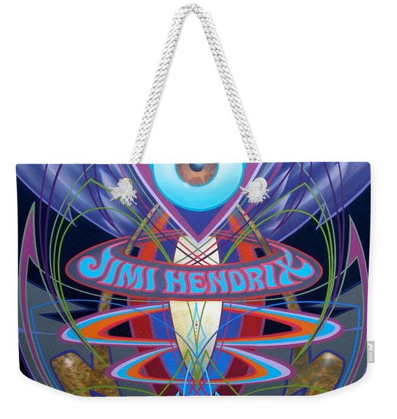 Jimi Hendrix Memorial Weekender Tote Bag