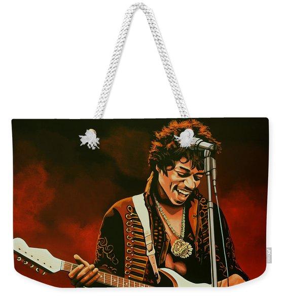 Jimi Hendrix Painting Weekender Tote Bag