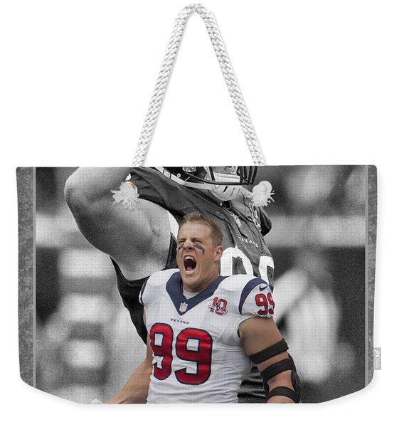 Jj Watt Texans Weekender Tote Bag