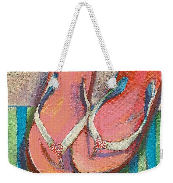 Pink Flip Flops Weekender Tote Bag