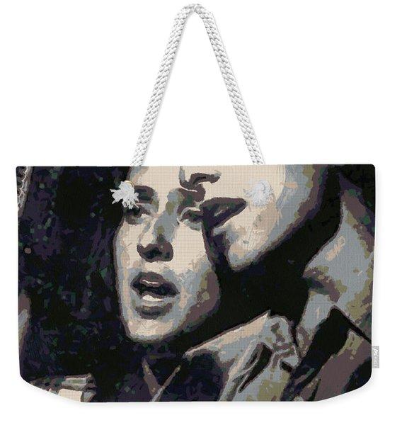 Joan Baez And Bob Dylan Weekender Tote Bag