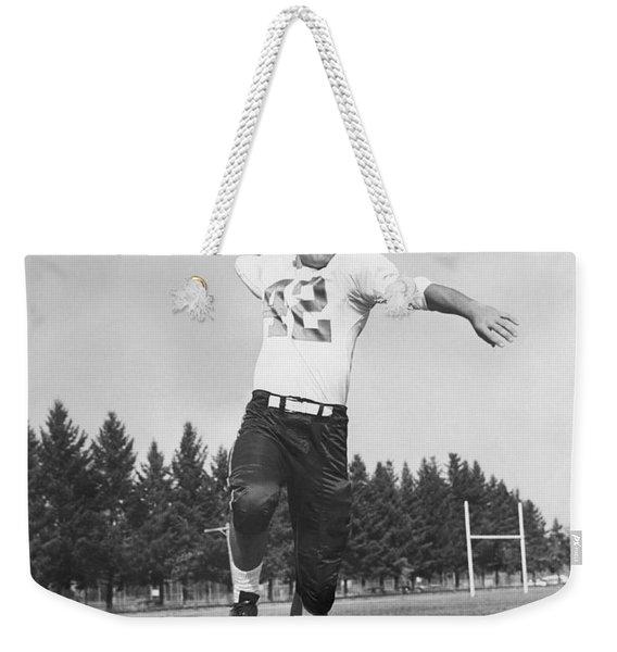 Joe Francis Throwing Football Weekender Tote Bag