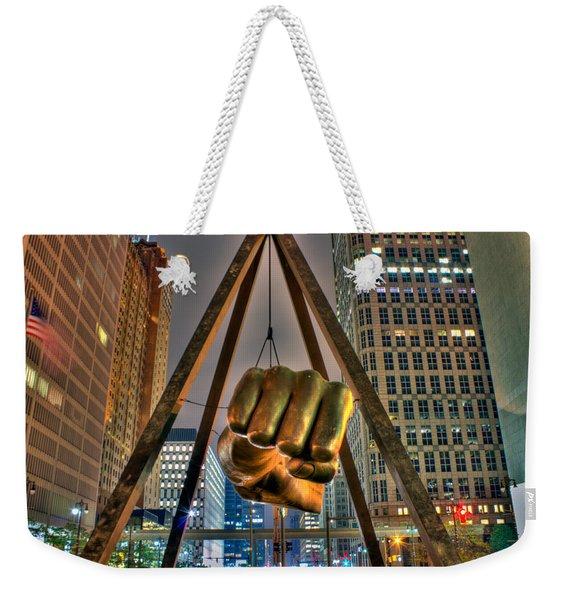 Joe Louis Fist Detroit Mi Weekender Tote Bag
