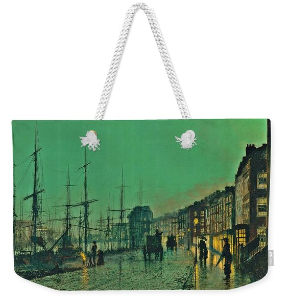 John Atkinson Grimshaw Shipping On The Clyde 1881 Weekender Tote Bag
