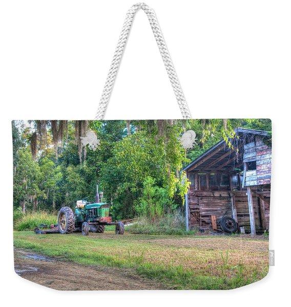 John Deere - Old Tractor Shed Weekender Tote Bag