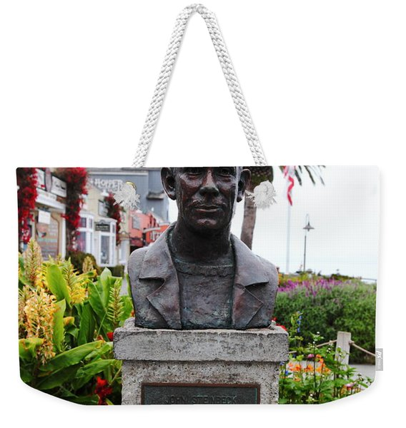 John Steinbeck Bust On Monterey Cannery Row California 5d24770 Weekender Tote Bag