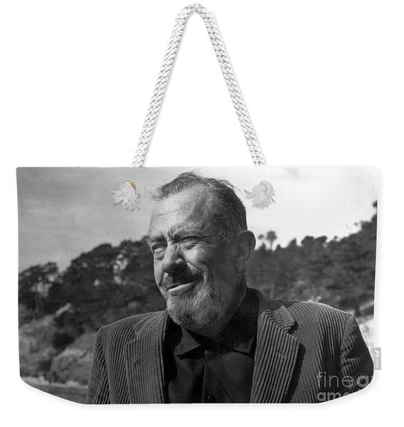 John Steinbeck Pebble Beach, Monterey, California 1960 Weekender Tote Bag