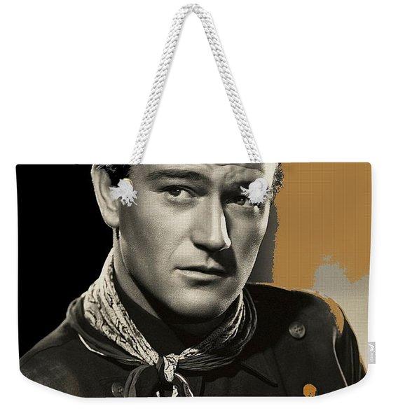John Wayne  Publicity Photo In Costume Stagecoach 1939-2009 Weekender Tote Bag